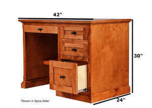 Asheville Pedestal Desk - Home Furniture Factory