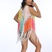Load image into Gallery viewer, Multicolor Tassel Beach Dress