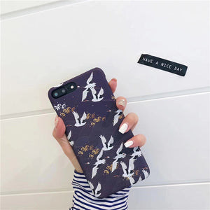 Black Japanese Cherry Blossom iPhone Case