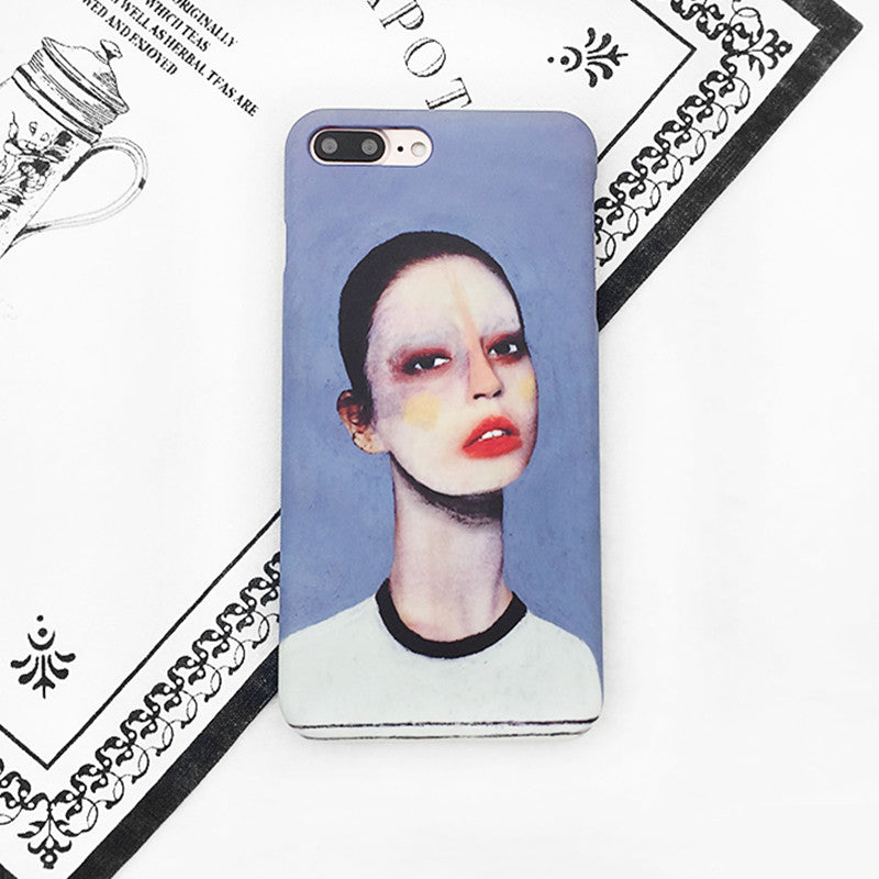 White Distorted Oil Painting iPhone Case