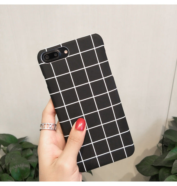 Black Geometric iPhone Case