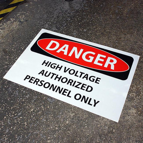 "17"" x 26"" QC-DANGER High Voltage Floor Sign"