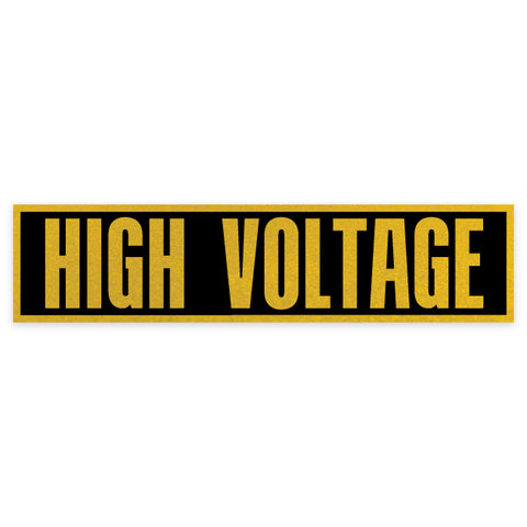 "8.5"" x 2"" High Voltage Label"