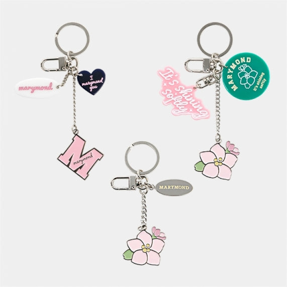 Flower / Key Ring Holder / Peach Blossom