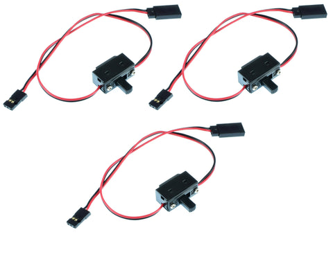 Apex RC Products JR Style On/Off Switch - 3 Pack #1051