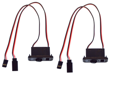 Apex RC Products Futaba Style HD On/Off Switch W/ Charge Port - 2 Pack #1057