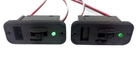 Apex RC Products Futaba Style HD On/Off Switch W/ LED +Charge Port - 2 Pack #1060