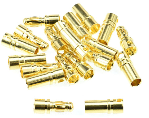 Apex RC Products 3.5mm Male / Female Gold Bullet Connectors Plugs - 10 Pair #1102
