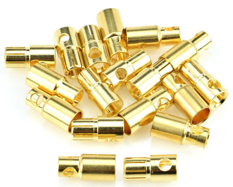 Apex RC Products 6.0mm Male / Female Gold Plated Bullet Connectors Plugs - 10 Pair #1107