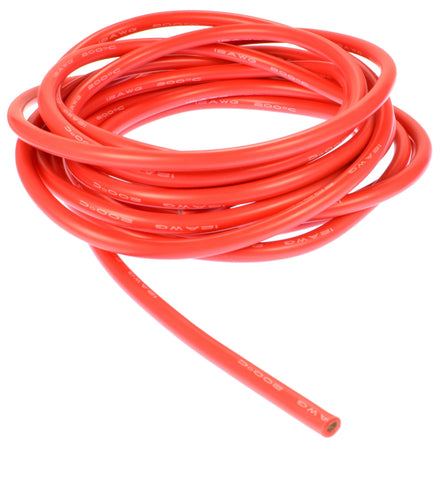 Apex RC Products 3m / 10' Red 12 Gauge AWG Super Flexible Silicone Wire #1140