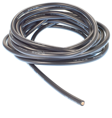 Apex RC Products 3m / 10' Black 12 Gauge AWG Super Flexible Silicone Wire #1141