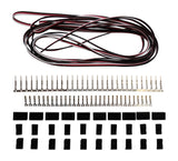 Apex RC Products Futaba Style Servo Extension Kit W/ 10 Plugs & 15' Wire #1225