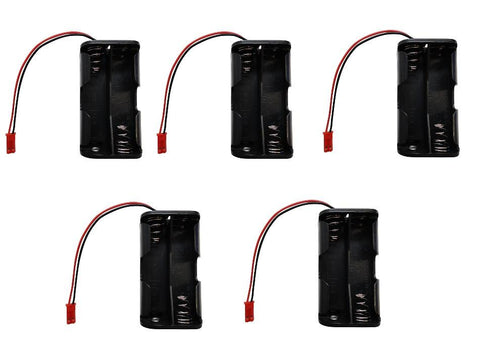 Apex RC Products 4 Cell 4.8V AA Battery Holder W/ JST Connector Receiver Battery Pack - 5 Pack #2930