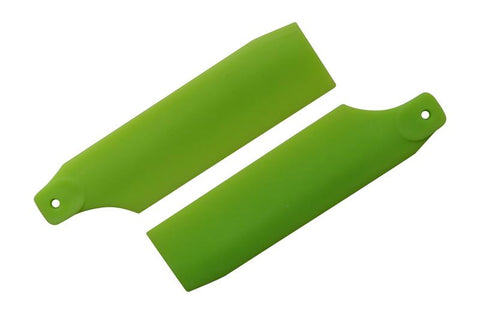 KBDD Neon Lime 61mm Tail Rotor Blades #4023