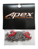 "Apex RC Products 1/10 RC Rock Crawler 33"" Scale Metal Chain W/ Hooks #4050"