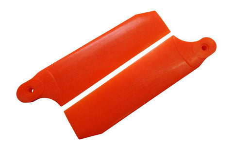 KBDD Neon Orange 104mm Extreme Tail Rotor Blades #4079