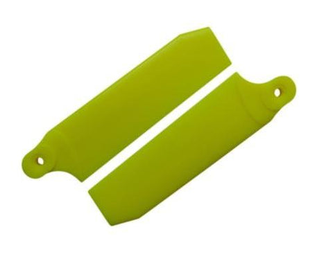 KBDD Neon Yellow 84.5mm Extreme Tail Rotor Blades #4094