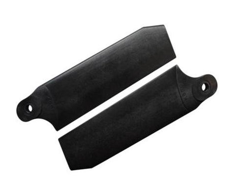 KBDD Midnight Black 84.5mm Extreme Tail Rotor Blades #4095