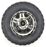 Apex RC Products 1/10 Short Course Off-Road Chrome Split 6 Spoke Wheels & Scorcher Tire Set #6205