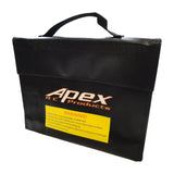 Apex RC Products 240mm X 65mm X 80mm XL Jumbo Lipo Safe Fire Resistant Charging Bag #8089