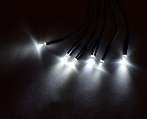 Apex RC Products 3mm White LED Kit - For RPM Light Bar #9032