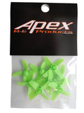 Apex RC Products Blade Inductrix Neon Green CW CCW Props - 2 Sets (8 Props) #9060G