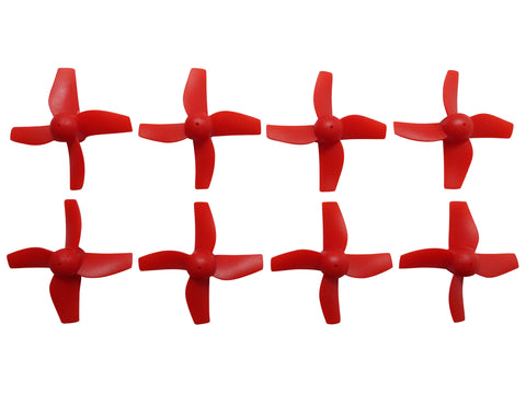 Apex RC Products Blade Inductrix Bright Red CW CCW Props - 2 Sets (8 Props) #9060R