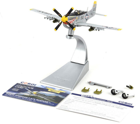 "Corgi P-51D F-51D Mustang - ""Was That Too Fast"" 1:72 Die-Cast Airplane AA27702"