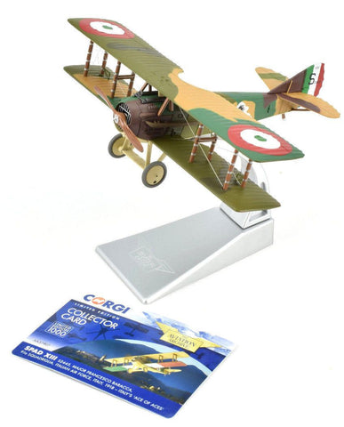 "Corgi Spad XIII - Italy's ""Aces Of Aces"" 1:48 Die-Cast Airplane AA37907"