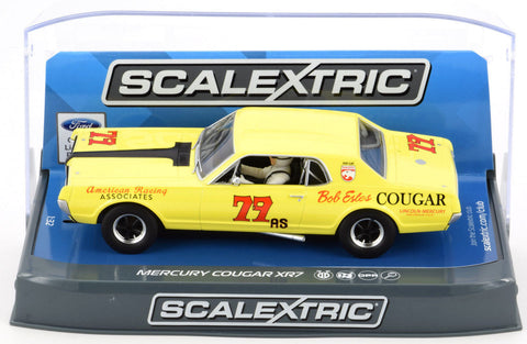 "Scalextric ""Bob Estes"" Mercury Cougar XR7 DPR 1/32 Scale Slot Car C3729"