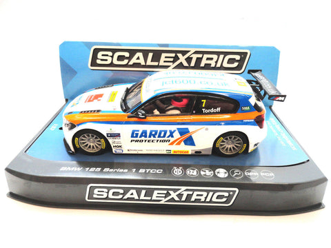 "Scalextric ""Gardox"" BMW 125 1 Series BTCC PCR DPR W/ Lights 1/32 Slot Car C3735"