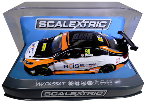 "Scalextric ""RCI"" BTCC VW Passat PCR DPR W/ Lights 1/32 Scale Slot Car C3737"