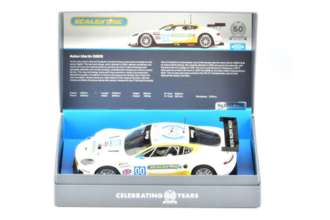 Scalextric 60 Years LE Aston Martin DBR9 DPR W/ Lights 1/32 Slot Car C3830A
