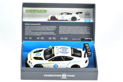 Scalextric 60 Years LE Bentley Continental GT3 DPR W Lights 1/32 Slot Car C3831A