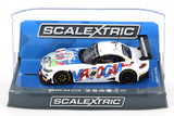"Scalextric ""Vroooaaw"" BMW Z4 GT3 DPR W/ Lights 1/32 Slot Car C3855"