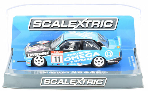 "Scalextric ""Omega"" BMW E30 M3 DPR W/ Lights 1/32 Scale Slot Car C3866"