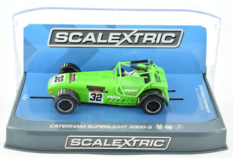 "Scalextric ""Smart Services"" Caterham Superlight R300-S 1/32 Slot Car C3871"