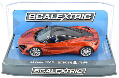 Scalextric Azores Orange McLaren 720S DPR W/ Lights 1/32 Scale Slot Car C3895