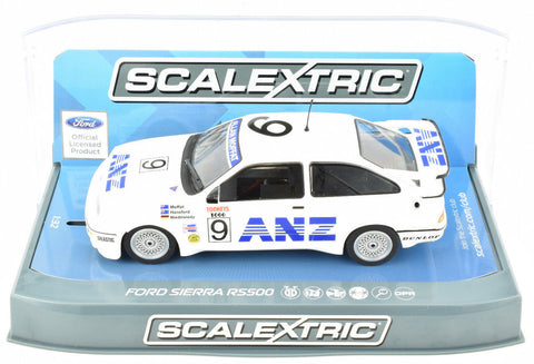 "Scalextric ""ANZ"" Ford Sierra RS500 DPR W/ Lights 1/32 Scale Slot Car C3910"