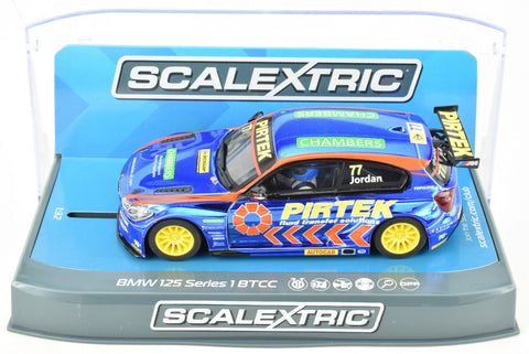 "Scalextric ""Pirtek"" BMW 125 1 Series BTCC DPR W/ Lights 1/32 Slot Car C3914"