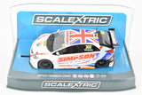 "Scalextric ""Simpson"" BTCC Honda Civic DPR W/ Lights 1/32 Scale Slot Car C3915"