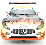 "Scalextric ""Sun Energy"" Mercedes AMG GT3 DPR W/ Lights 1/32 Scale Slot Car C3941"