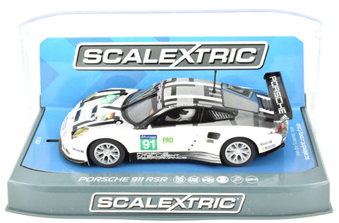 Scalextric Porsche 911 RSR - 2016 24h LeMans DPR W/ Lights 1/32 Slot Car C3944