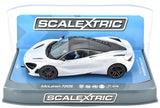 Scalextric Glacier White McLaren 720S DPR W/ Lights 1/32 Scale Slot Car C3982
