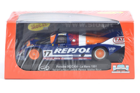 "Slot It ""Repsol"" Porsche 962C KH - 1991 Le Mans 1/32 Scale Slot Car CA17E"