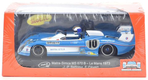 "Slot It ""Shell"" Matra-Simca MS 670 B - 1973 Le Mans 1/32 Scale Slot Car CA37A"
