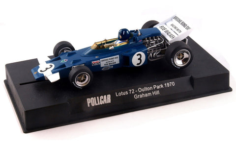 Slot It Policar Lotus 72 - Graham Hill - 1970 Oulton Park 1/32 Slot Car CAR02B