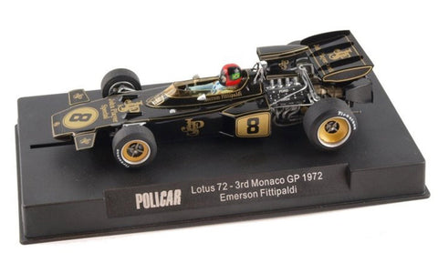Slot It Policar Lotus 72 - Emerson Fittipaldi - 1972 Monaco 1/32 Slot Car CAR02C