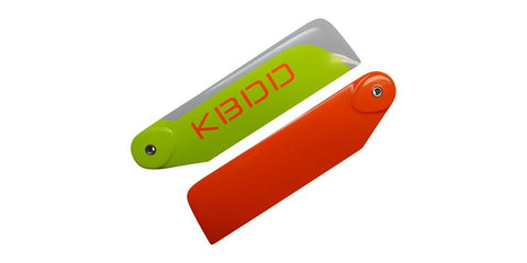KBDD 95mm Orange / Yellow / White Carbon Fiber Tail Rotor Blades 95CFO