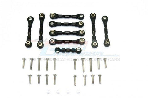 GPM Racing Traxxas 4-Tec 2.0 Blue Aluminum 9pc Tie Rod Set GT160-B-BEBK